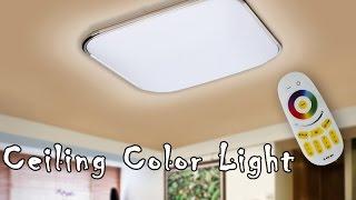 RGB Ceiling Color Light - Colorful Ceiling Lamps, 2400 Lumens, 3000K To 6500K Color Temp