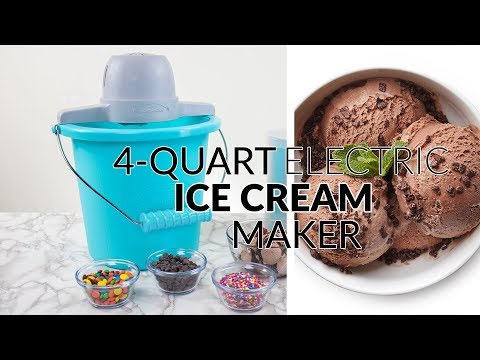 ICMP400BLUE | 4-Quart Electric Ice Cream Maker with Easy Carry Handle