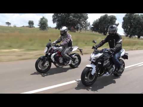 Mid-sized Naked Sportbikes; MV AGUSTA BRUTALE 800 vs KAWASAKI Z800