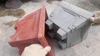 How To Make Beautiful Cement Pot At Home Easily    Flower Pot Design Ideas