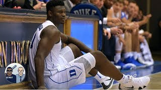 A pair of Zion's game-worn sneakers sold for almost $20K   Jalen & Jacoby