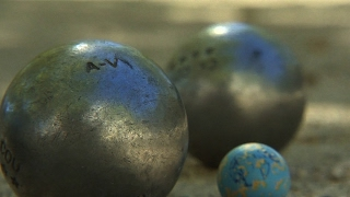 The French game of petanque, an institution in Provence