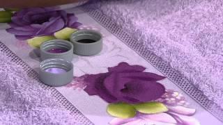 Pintura Rosa Toalha de Rosto