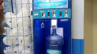 Refilling water bottles at Walmart