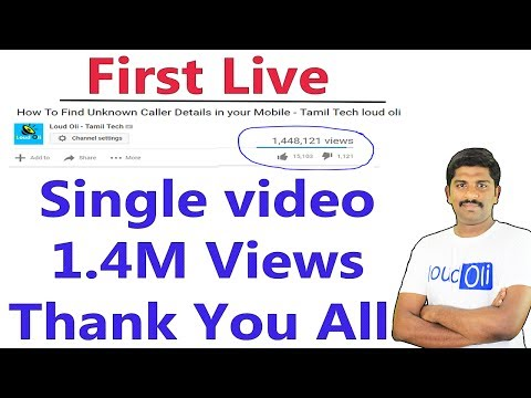 First Live Video/166600 Subscriber/Thank you all - Loud Oli Tamil Tech