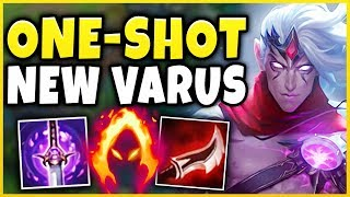 THIS NEW VARUS W MAKES HIM BEYOND BROKEN! *NOT CLICKBAIT* S9 VARUS GAMEPLAY!   League Of Legends