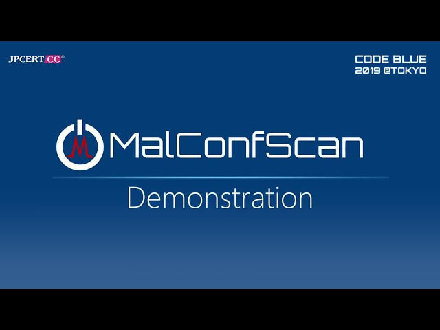 MalConfScan_Demonstration