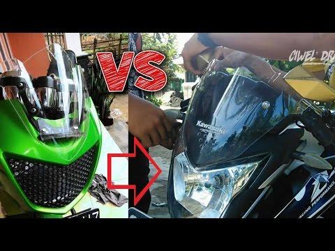 Video Cara Memasang Visor Kawasaki Ninja R Pada Honda CB150R