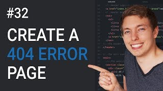 32: How to Create a 404 Page in HTML | Create a Custom 404 Page | Learn HTML & CSS | HTML Tutorial