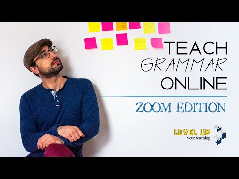 How to Teach Grammar Online - Questions forms - Zoom Edition