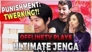 ULTIMATE JENGA - PUNISHMENT: TWERKING ft. POKIMANE, DISGUISEDTOAST, FEDMYSTER, & SCARRA
