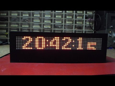 Arduino 8x8 Led Matrix Clock with MAX7219 - смотреть онлайн на Hah Life