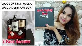 Lujo Box July 2020 | Anti-Ageing Edition | Face Serums | Unboxing & Review |