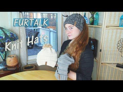 FURTALK Hats – Women's Caps 🍀Slouchy Knit/Ponytail (& Children's Scarf & Hat Set ) | Review ⭐