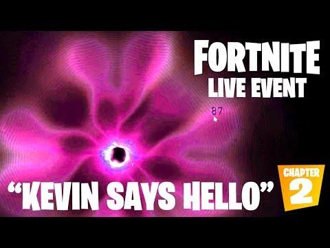 "FORTNITE BLACK HOLE EVENT - ""KEVIN SAYS HELLO"" JUST HAPPENED (Fortnite Chapter 2)"