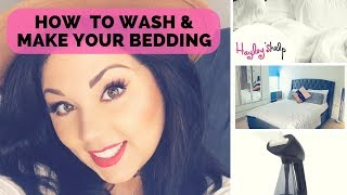 How To Wash A Duvet Cover, Pillows,  Bed Sheets,  & Making The Bed - Laundry Routine