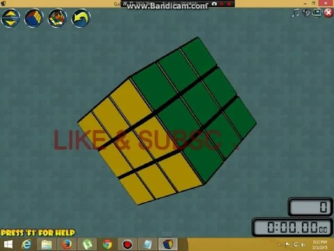 How To Play Rubiks Cube On Computer 2x2 TO 20x20
