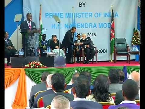 PM Modi addresses the students at University of Nairobi