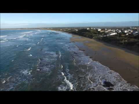 Drone footage of Ocean Grove and its sands