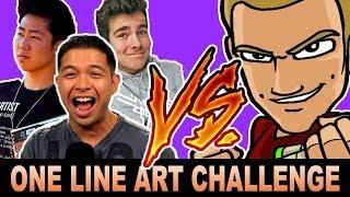 ONE LINE ART CHALLENGE vs DRAWwithJAZZA (+DissTrack) ft. Vexx/ZHC