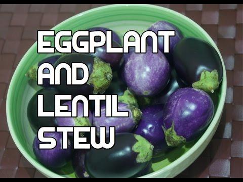 Vegan Eggplant & Lentil Smoked Paprika Stew Recipe Video Aubergine