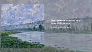 Violin Partita no. 3, BWV 1006