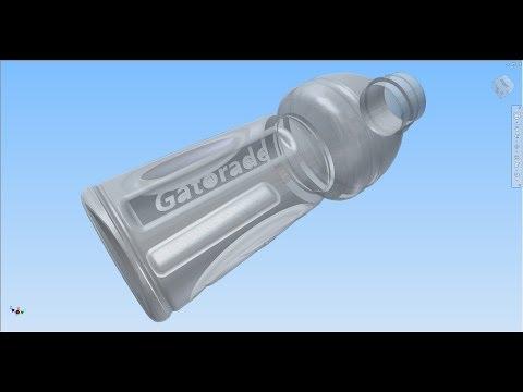Download Autodesk Inventor 2014 Gatorade Bottle Part 1 Video 3GP Mp4