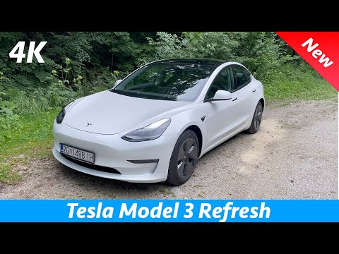 Tesla Model 3 2021 Refresh - FIRST detail look in 4K | Exterior - Interior (Visual Review)