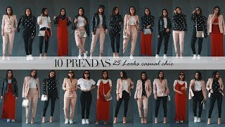 10 Prendas, 25 Looks Casual Chic