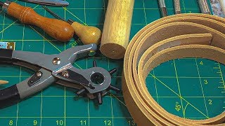 How To Make A Leather Belt From Scratch