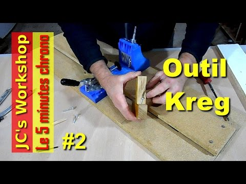 Gabarit de perçage Kreg pour assemblages bois et panneaux - Travail du bois - 5mc #2