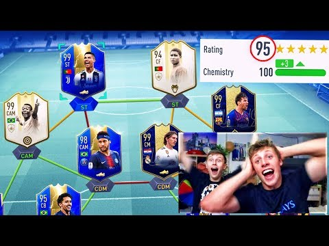 BREAKING W2S 195 FUT DRAFT WORLD RECORD!! (FIFA 19)