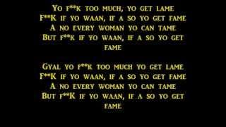 Vybz Kartel - No Games Lyrics [Raw] Sep 2013
