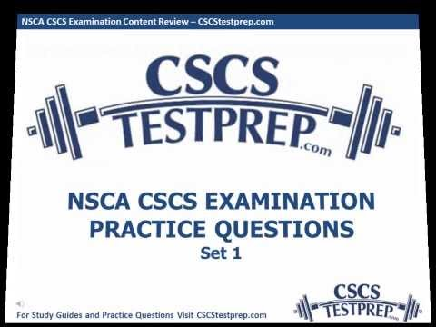 NSCA CSCS Practice Questions - YouTube