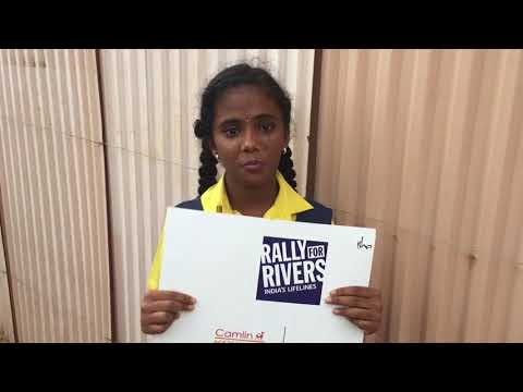 Rathnam International School student shares for Rally for Rivers