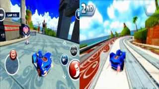 Android vs. 3DS- Sonic all stars racing transformed