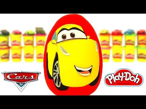 Huevo Sorpresa Gigante de Cruz Ramírez de Cars 3 en Español de Plastilina Play Doh