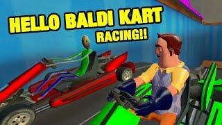 HELLO BALDI KART RACING!! - Baldi