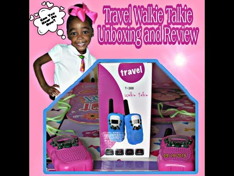 Children's Walkie Talkie | Unboxing and Review | Pretend Play