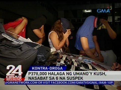 [GMA]  P378,000 halaga ng umano'y kush, nasabat sa 6 na suspek