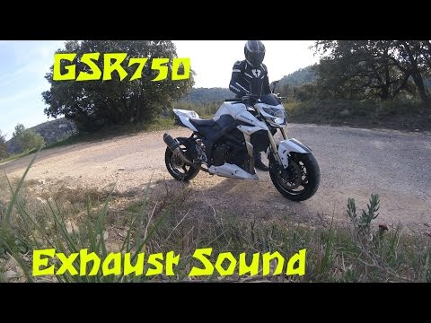 Gsr750 Exhaust sound FRESCO + Acceleration