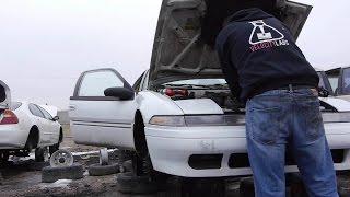 Pulling Junkyard Car Parts Tutorial DIY