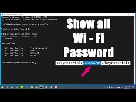 CMD : Find all Wi-Fi passwords with only 1 command | Windows 10/8.1/8/7