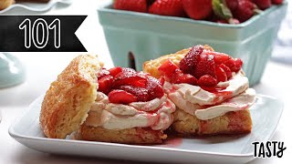 How To Make The Best Strawberry Shortcake You'll Ever Eat • Tasty