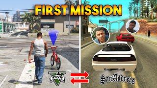 GTA 5 VS GTA SAN ANDREAS : FIRST MISSIONS REVERSED !