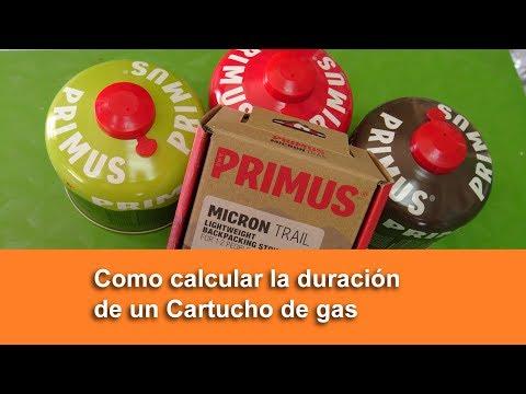 Como calcular la duración de un Cartucho de gas