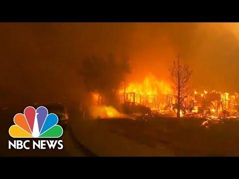 Massive Forest Fires Rage Through California | NBC News