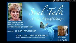 Bernadette Bloom Featured on Soul Talk with Patty Malek