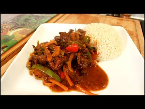 Sunday dinner pepper steak recipe with rice and salad !!