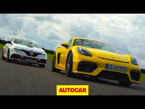 Porsche Cayman GT4 v Renault Megane RS Trophy R review | Which is fastest? | Autocar